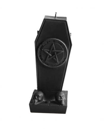Coffin candle with pentagram