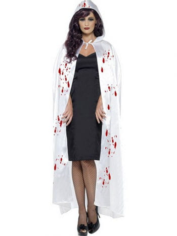 White Satin Cape with Blood Spatter