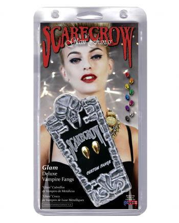 Scarecrow Vampirzähne Metallic Gold