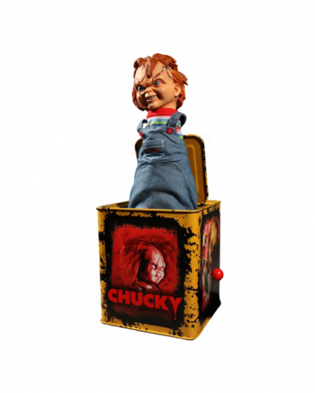 Scarred Chucky Burst-a-Box Collectible Figurine 36cm