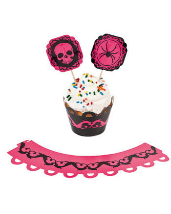Pink Halloween Cupcake Set 100 tlg.