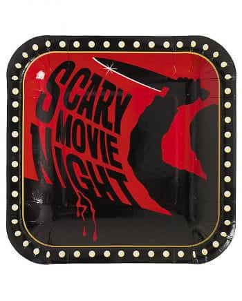 Scary Movie Night Paper Plates