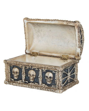 Treasure chest with skull