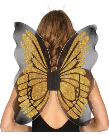Butterfly wings black / gold
