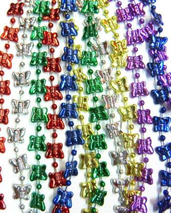 Butterfly Mardi Gras Beads 12 PCS