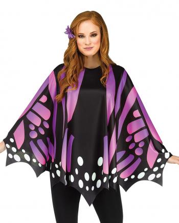 Butterfly Wings Poncho Purple