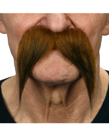 Mustache mottled brown-black