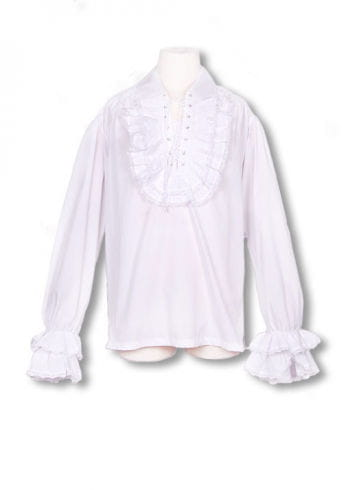 Baroque white ruffled shirt XL