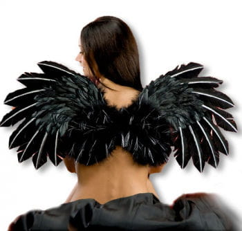 Black Wings with Glitter