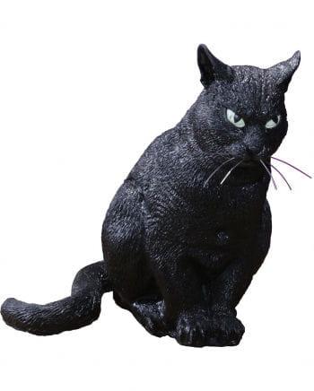 Schwarze Katze Halloween Deko 33cm