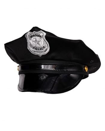Black Police Cap Special Police