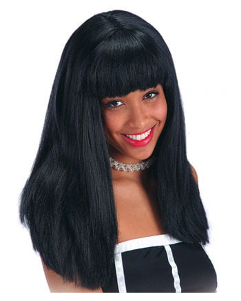 Black Long-haired wig with bangs