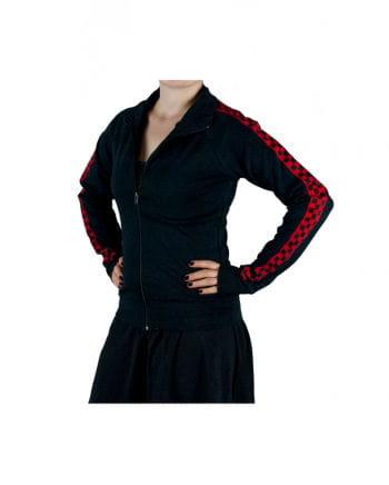 Schwarze Sweatshirt Gothic Jacke