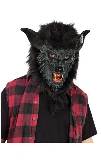 Schwarze Werwolf Maske