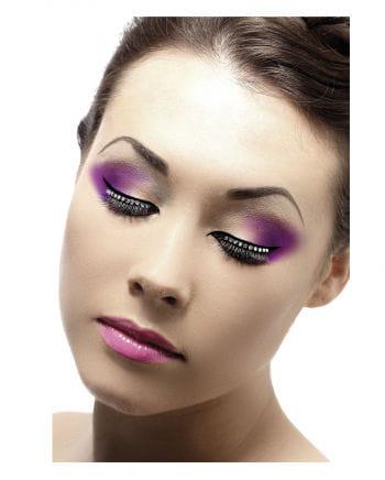 Eyelashes black with rhinestone