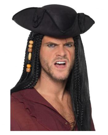 Black Three-cornered Pirate Hat