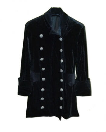 3/4 black velvet coat size L