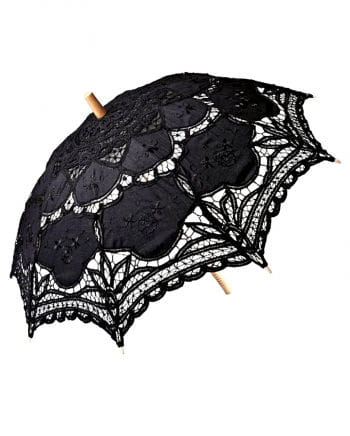 Schwarzer Schirm mit Spitze