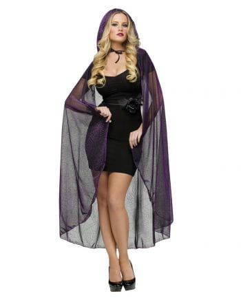 Cobweb Cape Lurex Purple