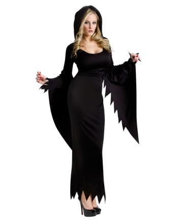 Schwarzes Kostüm Kleid mit Kapuze für Halloween & Fasching | Horror ...