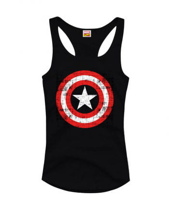 Captain America Girlie Tank Top schwarz