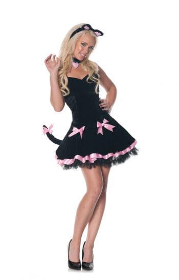 Schwarzes Kätzchen Damenkostüm
