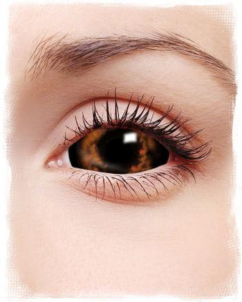 Sclera contact lenses orange / red