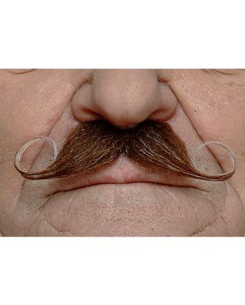 heather Adhesive handlebar mustache brown