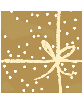 servietten mit schleife gold 20 st als tischdeko. Black Bedroom Furniture Sets. Home Design Ideas