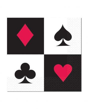 Napkins Poker Game 16 pcs