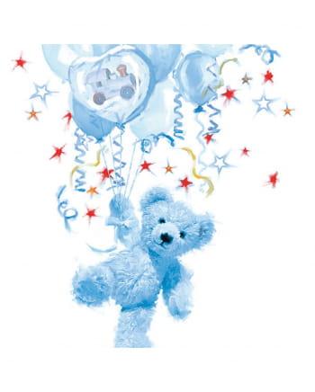 Napkins Teddy Boy blue 20 pc.