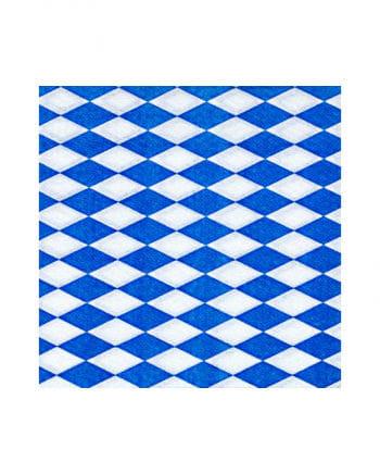 Napkins with blue-white diamond pattern 100 St.
