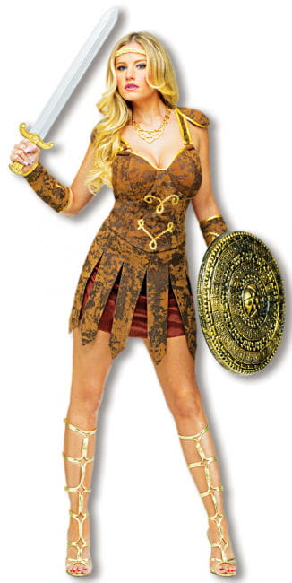 Sexy Gladiator Costume Brown S/M 36-38