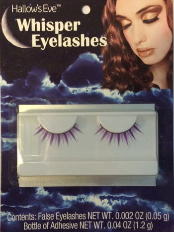 Sexy purple eyelashes