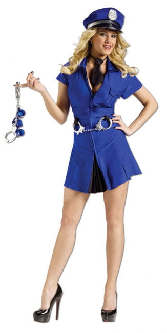 Sexy Police Costume Lady
