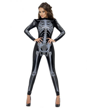 Skeleton black catsuit