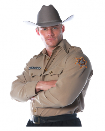 Sheriff Shirt Costume Size L
