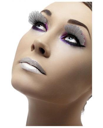 Eyelashes silver metallic