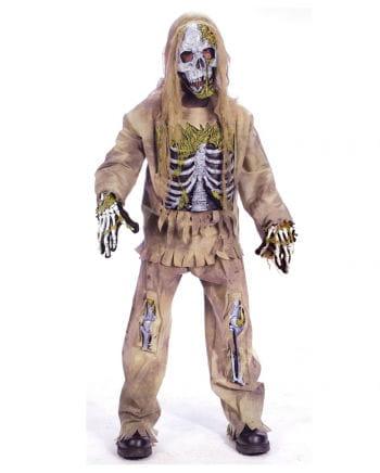 Skeleton Zombie Deluxe Child Costume L