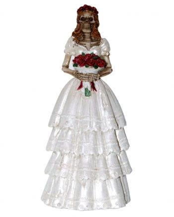 Skeleton bride figure 13 cm