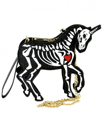 Skeleton Unicorn Clutch Shoulder Bag