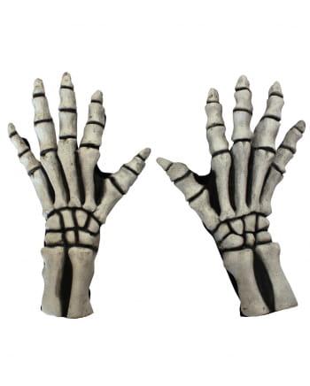 Skeleton Gloves White