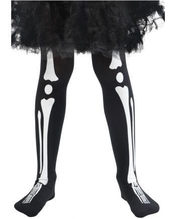 Skelett Kinderstrumpfhose