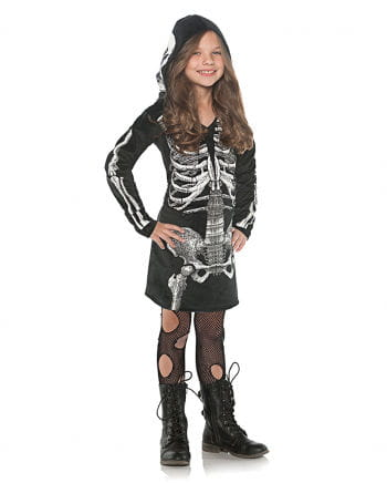 Skelett Kapuzenkleid für Kinder