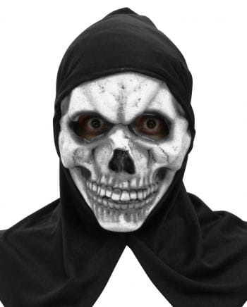 Skelett Maske mit Kapuze