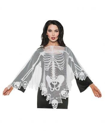 Skelett Spitzen Poncho