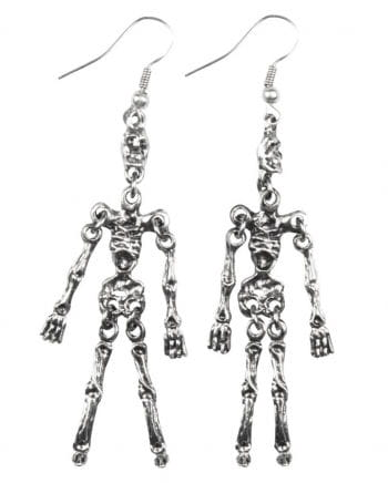 Skeleton earrings silver