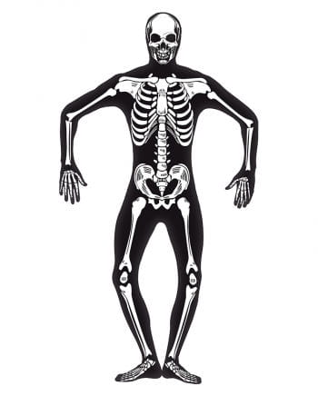 Skeleton skinsuit Glow in the Dark XL