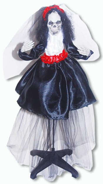 Skelettierte Braut Hänge und Standfigur