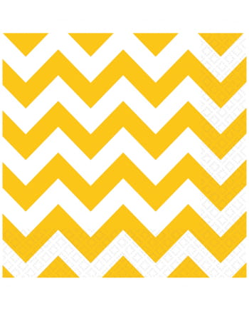 Summer Yellow Zig-zag Napkins 20 Pcs.